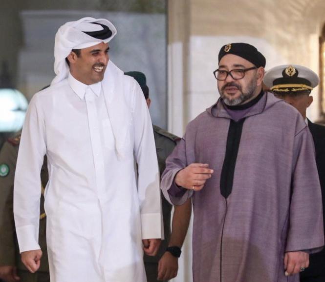 """هاشتاغ """"محمد السادس كاسر الحصار """" يجتاح التويتر بعد زيارة الملك المغربي لقطر"""