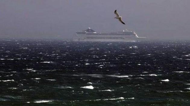 امطار ورياح قوية في المغرب وتوقف الملاحة بين ميناء طنجة وطريفة
